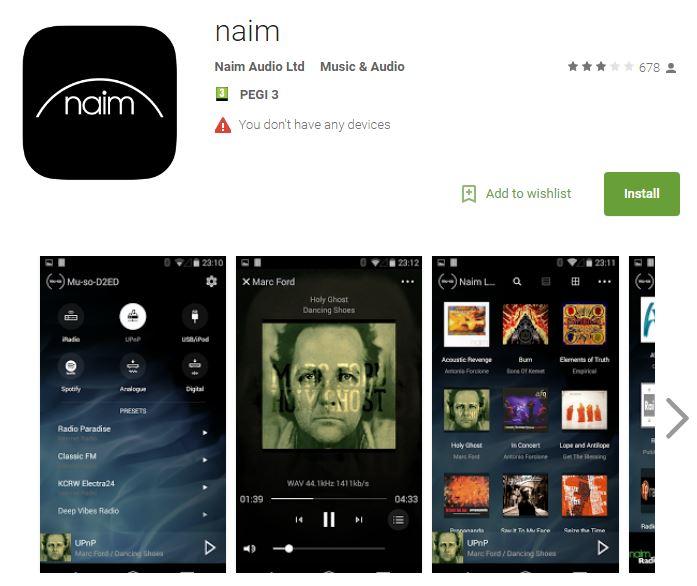 Naim android app V2.4