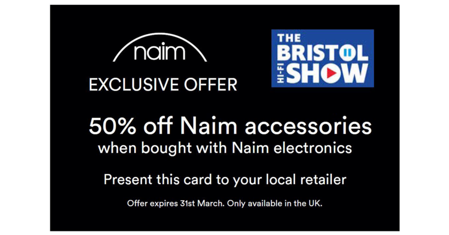 50% off Naim Accessories