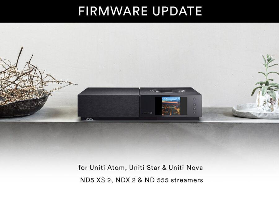 Naim Audio Firmware update streamers